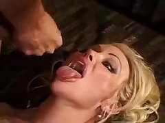 Curly haired blonde wife gets DP without hubby