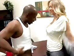 Blonde office wife gets her cunt destroyed