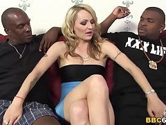 White blonde wife gets black dp