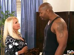 Blonde busty mature mommy Julia Butt gets bbc mandingo