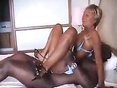 French mature milf interracial anal fuck