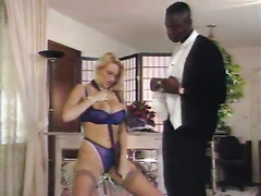 Retro big titted blonde milf in glasses blacked hard