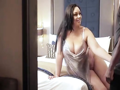 Thick hot wife gets ir creampie as hur wimp filming