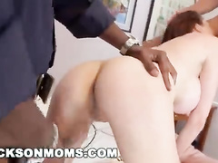 Busty housewife cheats her hubby with two BBCs