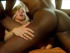 Aging housewife cannot stop fucking black men