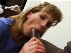 Wife gets bbc cum in her mouth for hubby